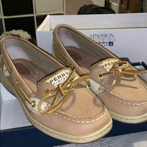Sperry Angelfish Gold Glitter Sneakers